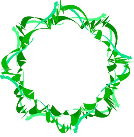 Abstract green frame. Decorative element for design.