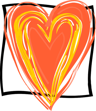 Heart shape on white background. Valentines day traditional symbol of love.