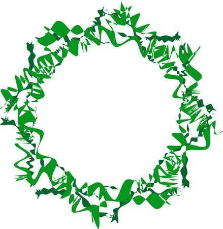 Abstract twisted green frame. Decorative element for design.