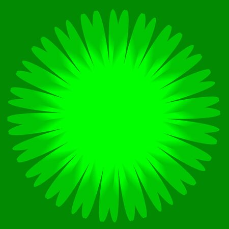 Round green color shape. Template for graphic design.