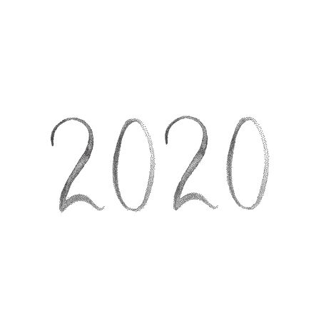 Happy New Year 2020 numbers in stippled halftone style.  イラスト・ベクター素材