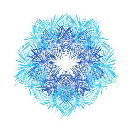 Mandala background. Ethnic decorative element in circle. Hand drawn pattern