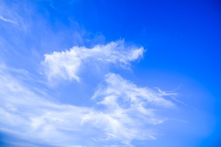 Blue summer sky with clouds