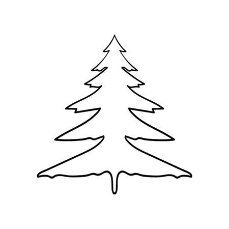 Spruce tree vector on white 向量圖像