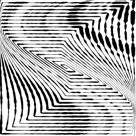 Abstract vector background. Distressed overlay. Grunge halftone stipple texture. Dotted twisted distorted striped surface.  イラスト・ベクター素材