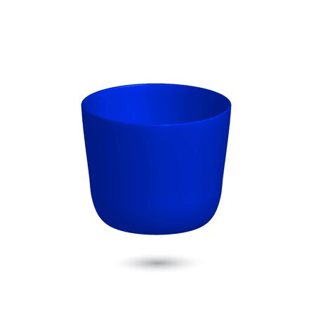 Vector 3 d cup. Bright colorful volumetric shape. Element for design on white background