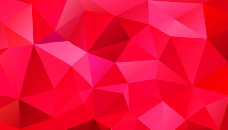 Abstract geometric style colorful background of triangular polygons. Vector illustration. Retro mosaic triangle bright trendy pattern for web, business template, brochure, card, poster, banner design