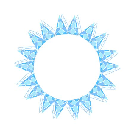Round frame with geometric pattern. Vectores