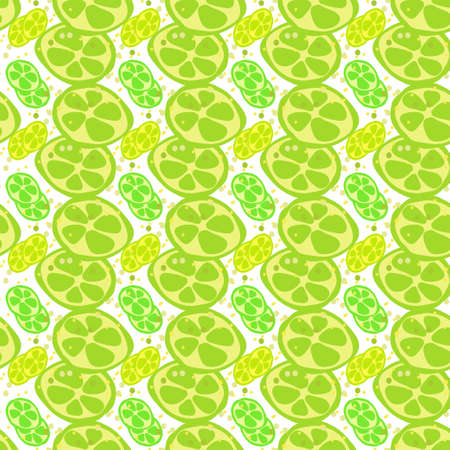 Seamless texture. Decorative background design with the sliced citrus summer fruits. Colorful vector pattern for textile, stationery, wallpaper, wrapping paper, web, scrapbook.