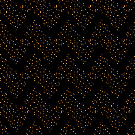 Abstract seamless dotted wavy ornament texture. Decorative dark background for web, wallpaper, textile, stationery, scrapbook, wrapping paper design Ilustrace