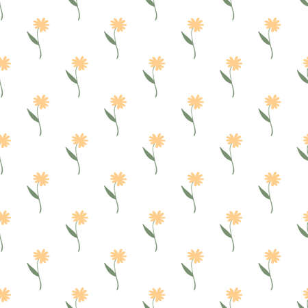Seamless pattern with floral elements. Decorative texture with rose flowers for wallpaper, textile, stationery, scrapbook, web, wrapping paper. Herbal background.