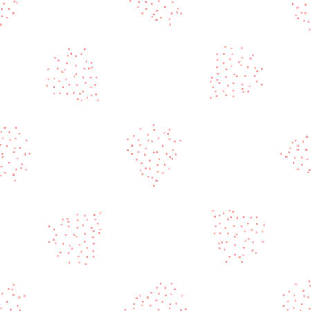 Seamless texture. Decorative background design with dotted shapes. Colorful vector pattern for textile, stationery, wallpaper Ilustrace