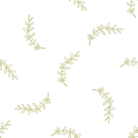 Seamless pattern with herbal elements. Decorative green leaf texture for wallpaper, textile, stationery, scrapbook, web, wrapping paper. Herbal background.