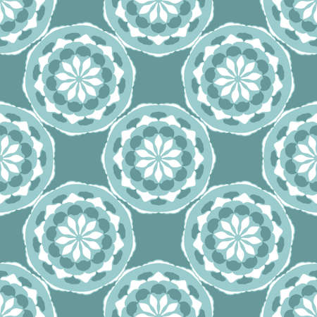 Seamless lacy mandala background. Oriental pattern. Decorative vector texture with elements in ethnic style for textile, wallpaper, scrapbook, wrapping paper, web