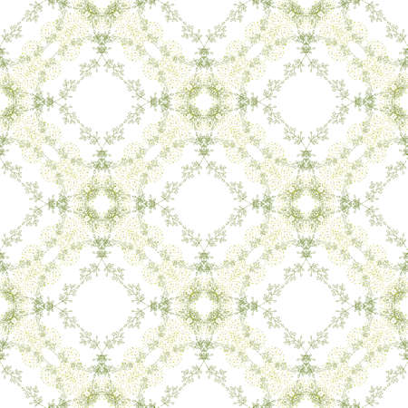 Abstract seamless texture of herbal wreaths. Decorative background for web, wallpaper, textile, stationery, scrapbook, wrapping paper design