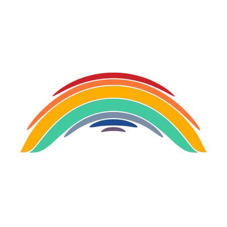 Stylized rainbow illustration on white background