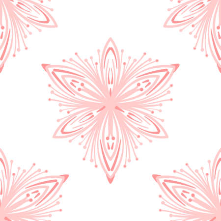 Seamless pattern of lacy elegant round pattern motifs. Decorative texture. Illusztráció