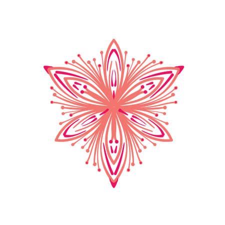 Lacy elegant pattern in circle. Mandala. Snowflake Illusztráció