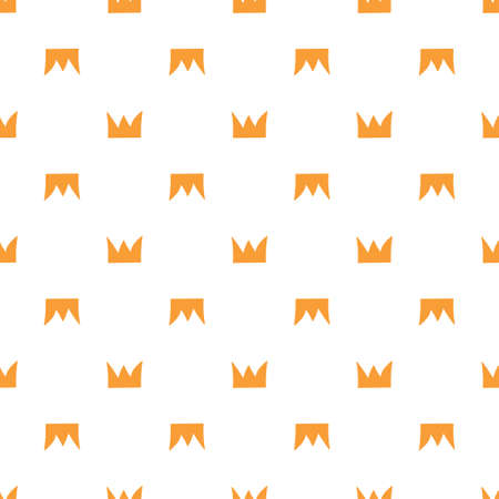 Seamless vector background. Decorative texture. Colorful pattern with orange crowns.