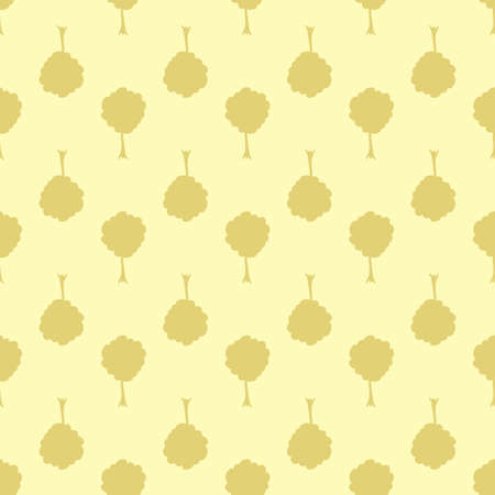 Seamless vector background. Decorative texture. Colorful pattern with stylized trees.