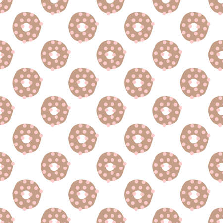Seamless decorative vector pattern with donuts. Colorful background for wallpapers, textile, paper, scrapbook design.