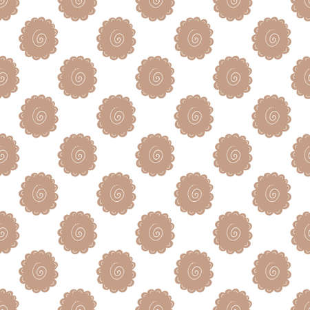 Seamless pattern with hand drawn vector elements. Colorful background in minimalist style. Decorative texture.