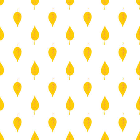 Seamless decorative vector pattern of yellow leaves. Colorful background for wallpapers, textile, paper, scrapbook design.