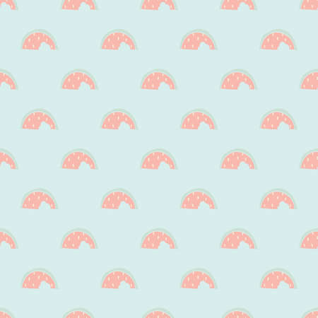 Seamless decorative vector pattern. Abstract background of stylized watermelon slices 矢量图像