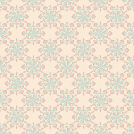 Seamless decorative vector pattern with floral mandala ornate elements. Abstract background 矢量图像