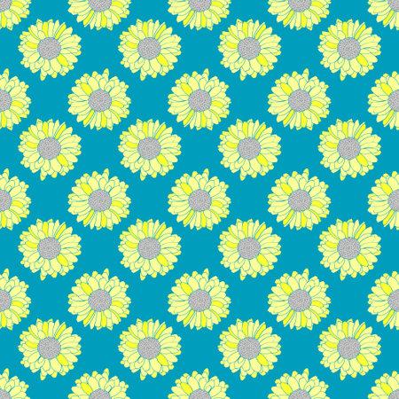 Seamless floral vector pattern. Decorative botanical texture.