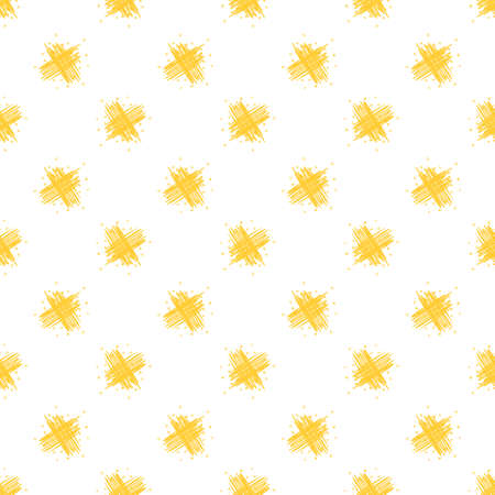 Seamless pattern with abstract yellow scribbles. Vector illustration.