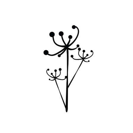 Vector illustration of a flower in cartoon style on a white background Vetores