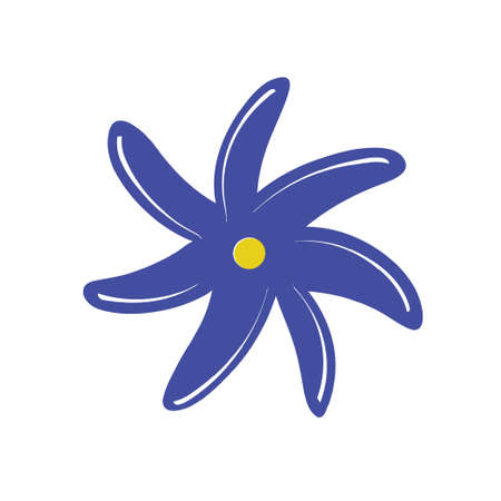 Colorful simple flower. Vector illustration Vektorgrafik
