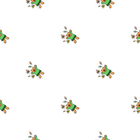 Cartoon characters. Decorative texture for wallpaper, textile, scrapbook, packaging paper.