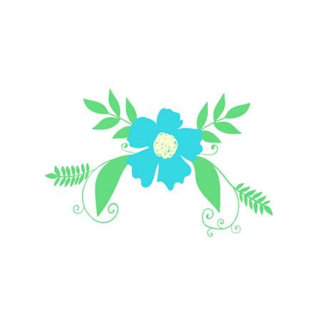 Floral element. Botanical detail on white Ilustrace