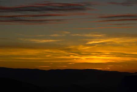 dusk, sunset in spain Stock Photo