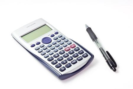 black pen and scientific calculator