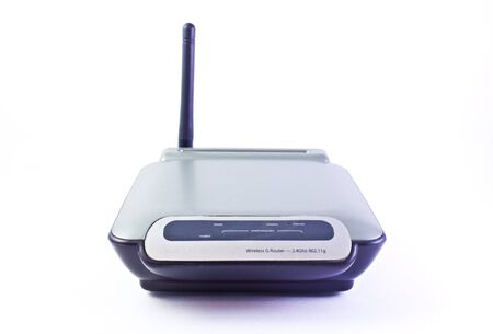 router wireless G front blue gray