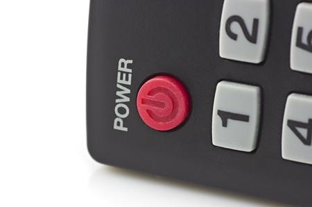 control power: Remote control power button Stock Photo