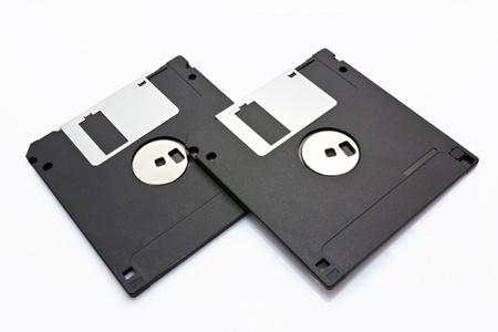 floppy disk: two old floppy disk,black