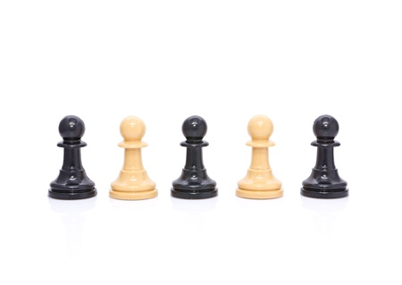 Several pieces of chess,pawns Stock Photo