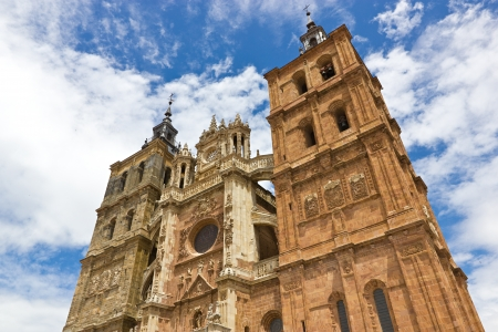 Facade of the Astorga cathedral  Stock Photo - 14783664