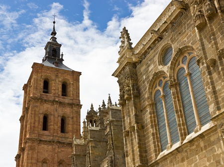Bell tower of the Astorga cathedral Stock Photo - 14783583