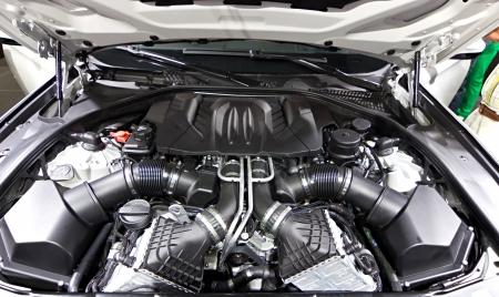 Powerful engine of modern car