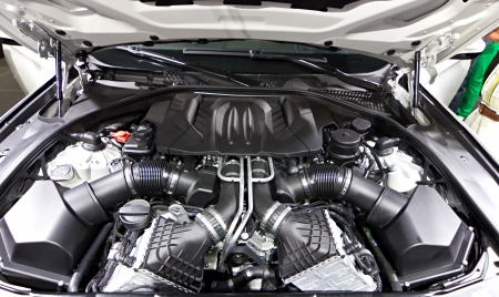 Powerful engine of modern car