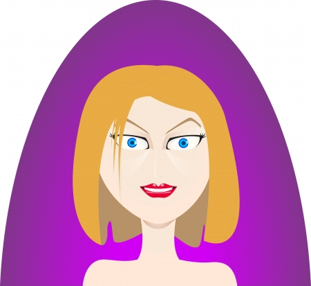 bell bottoms: Woman face Illustration
