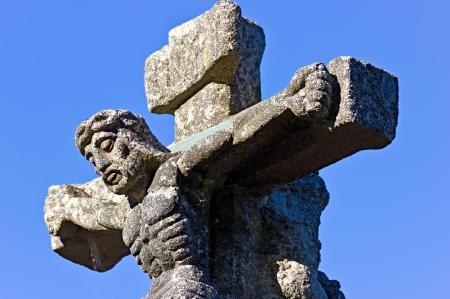 Cross of the camino de santiago as it passes through the province of Lugo Stock Photo - 15199155