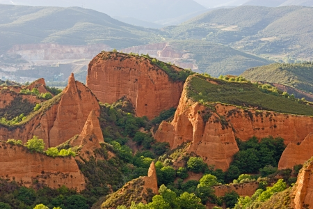 Las Medulas minas antiguo romano, Le�n, Espa�a