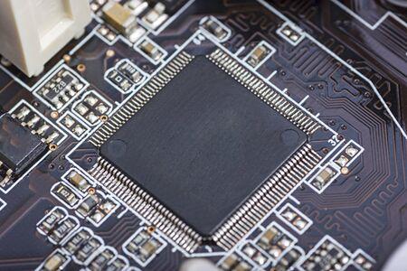 Micro chip en la placa base del ordenador