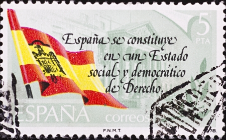 SPAIN - CIRCA 1978: A stamp printed in Spain,commemorating the establishment of democracy in Spain,circa 1978.